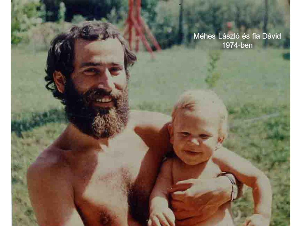 Méhes László és fia Dávid 1974-ben