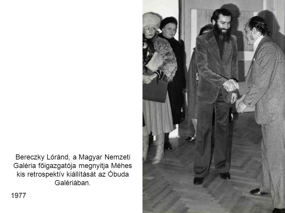 Bereczky Lóránd, a Magyar Nemzeti Galéria főigazgatója megnyitja Méhes kis retrospektív kiállítását az Óbuda Galériában.