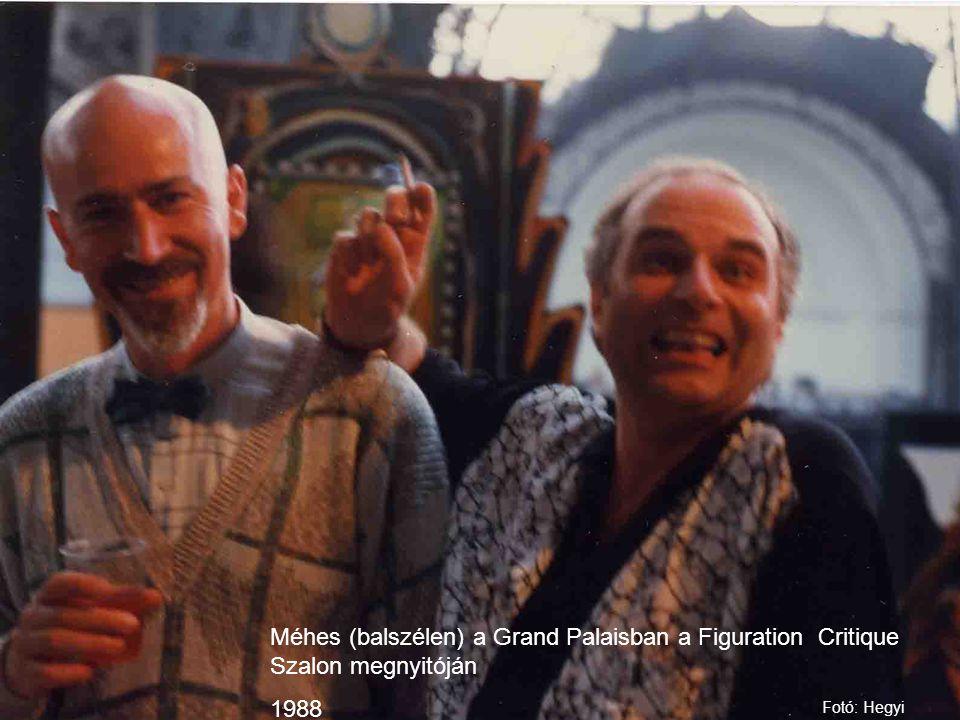 Méhes (balszélen) a Grand Palaisban a Figuration Critique Szalon megnyitóján
