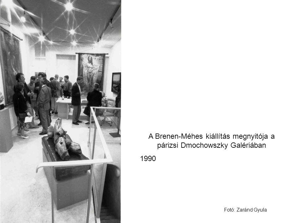 A Brenen-Méhes kiállítás megnyitója a párizsi Dmochowszky Galériában