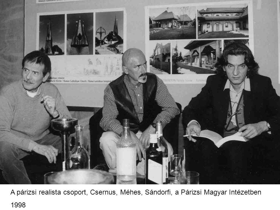 A párizsi realista csoport, Csernus, Méhes, Sándorfi, a Párizsi Magyar Intézetben
