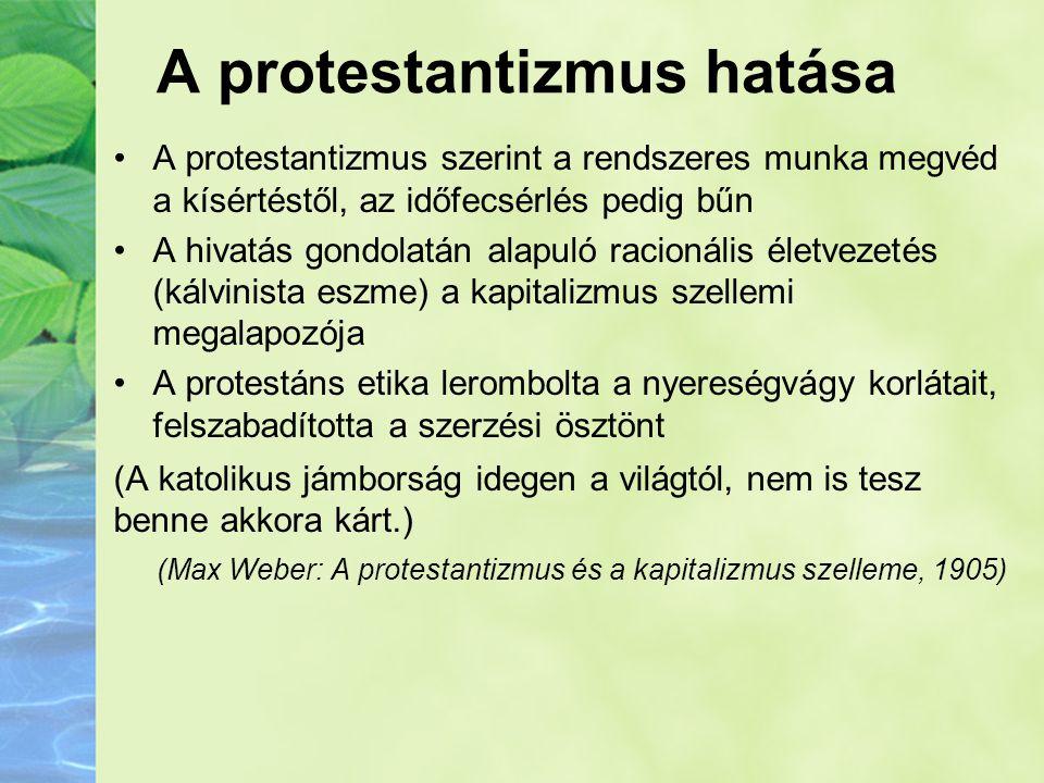 A protestantizmus hatása