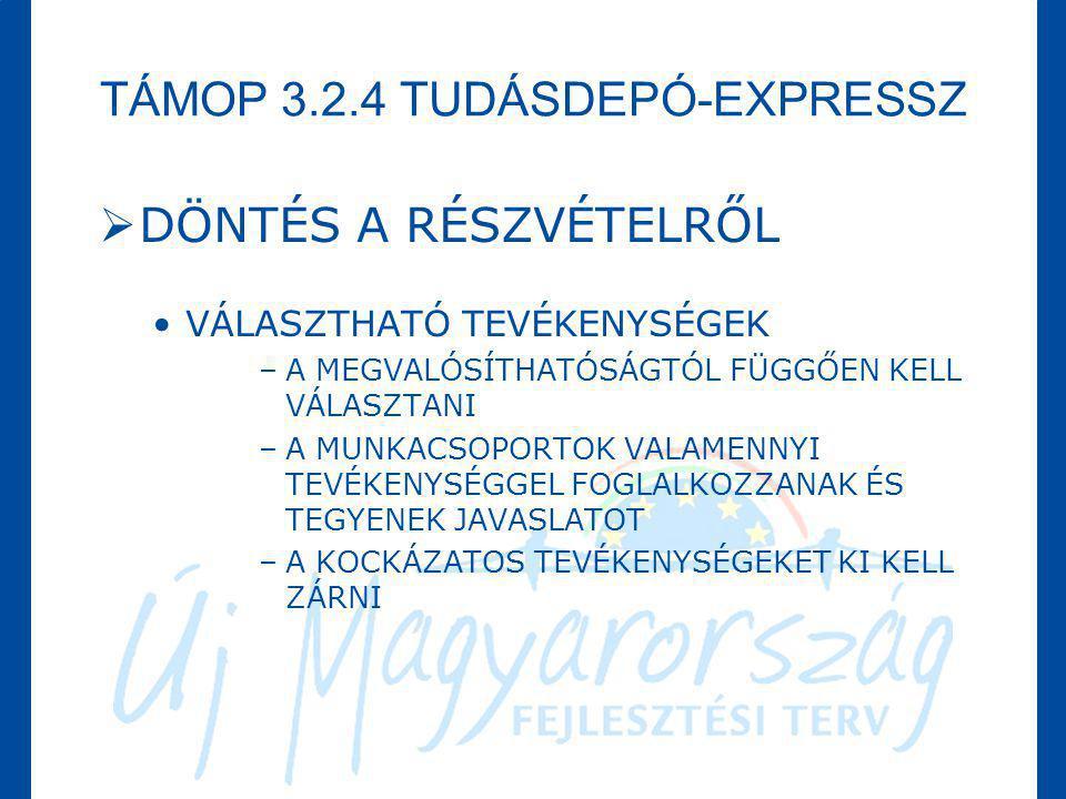 TÁMOP 3.2.4 TUDÁSDEPÓ-EXPRESSZ