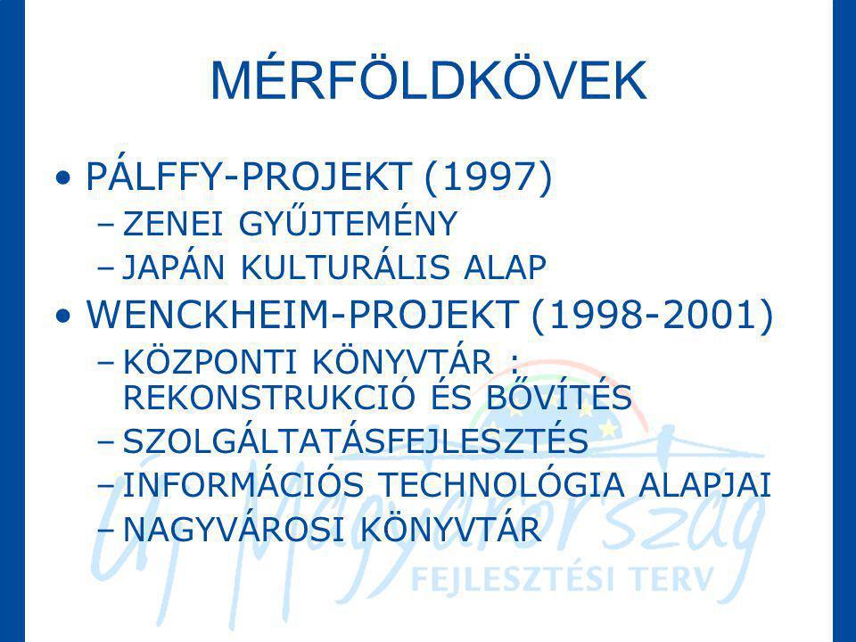 MÉRFÖLDKÖVEK PÁLFFY-PROJEKT (1997) WENCKHEIM-PROJEKT (1998-2001)
