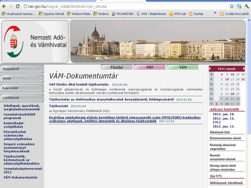 Új VPID lap elérhetősége