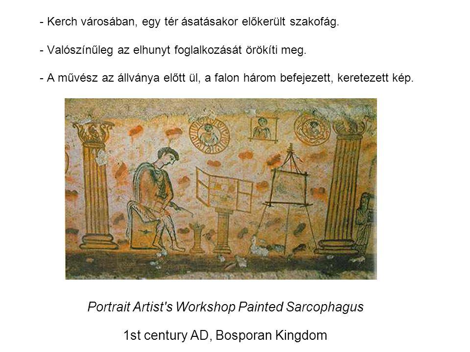 Portrait Artist s Workshop Painted Sarcophagus