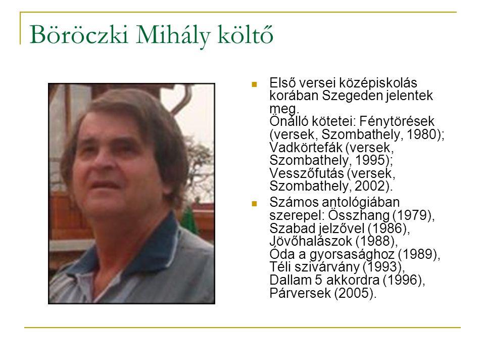 Böröczki Mihály költő