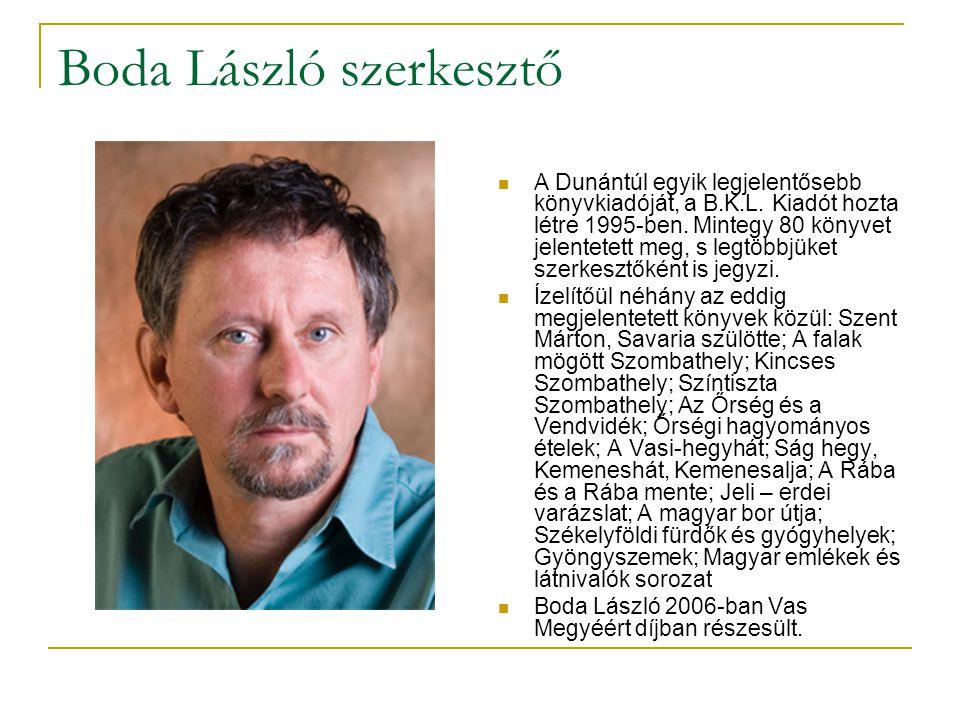 Boda László szerkesztő