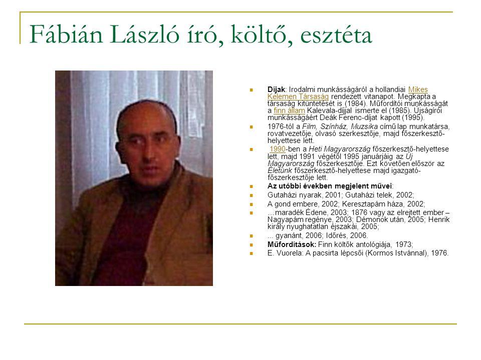 Fábián László író, költő, esztéta