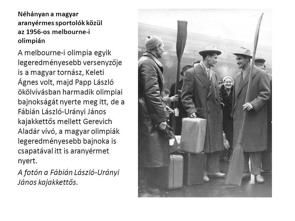 A fotón a Fábián László-Urányi János kajakkettős.