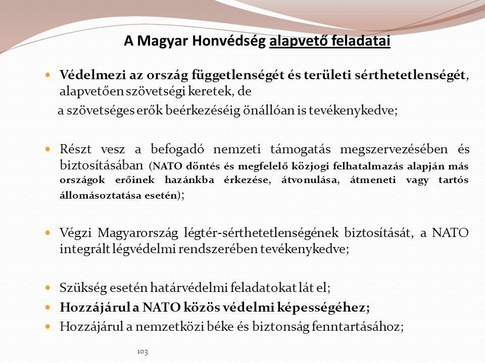 A Magyar Honvédség alapvető feladatai