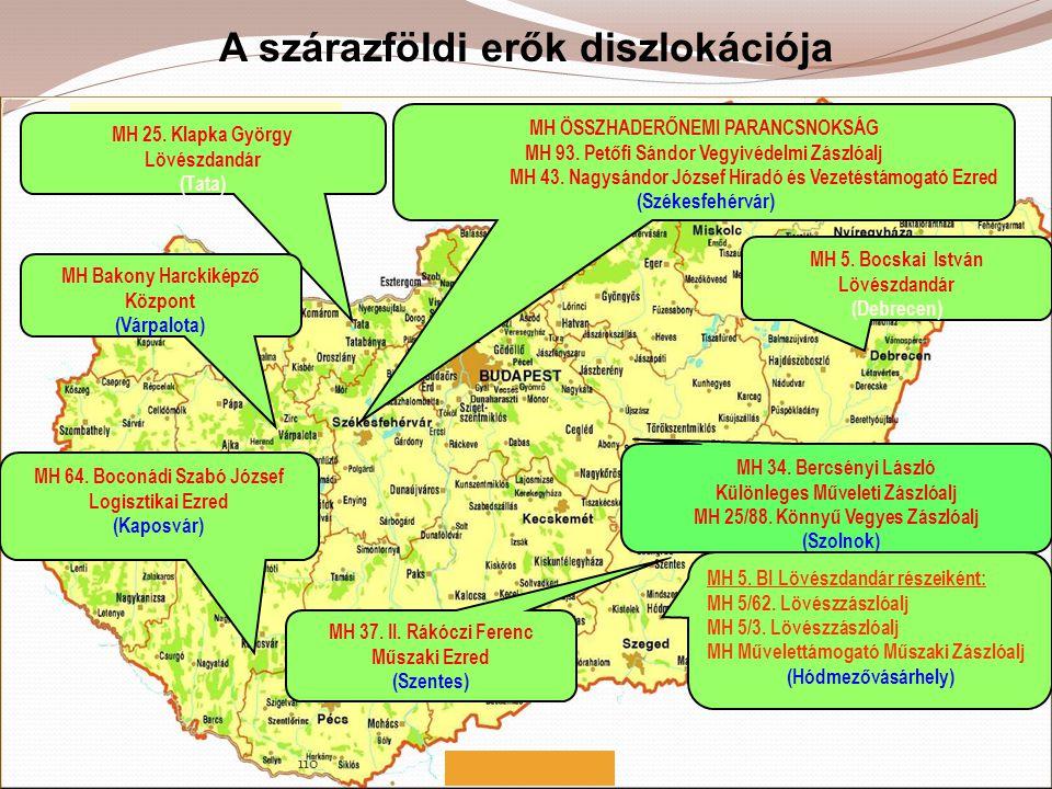 A szárazföldi erők diszlokációja