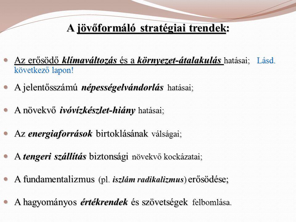 A jövőformáló stratégiai trendek: