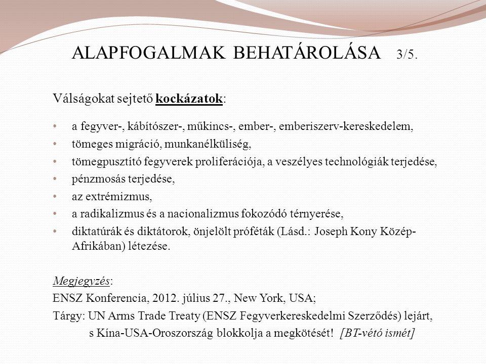 ALAPFOGALMAK BEHATÁROLÁSA 3/5.