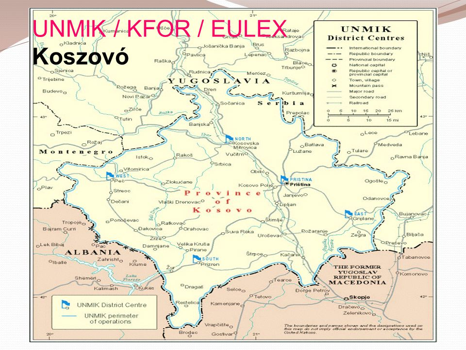 UNMIK / KFOR / EULEX Koszovó