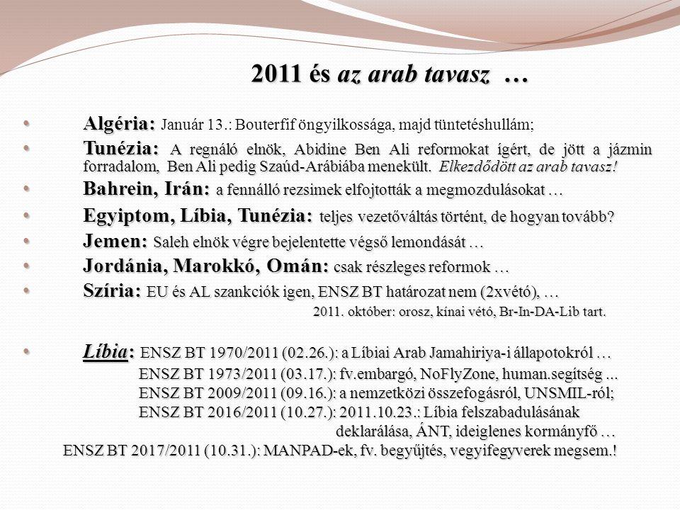 2011 és az arab tavasz … Algéria: Január 13.: Bouterfif öngyilkossága, majd tüntetéshullám;
