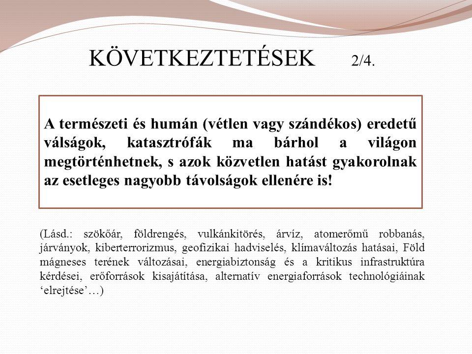 KÖVETKEZTETÉSEK 2/4.