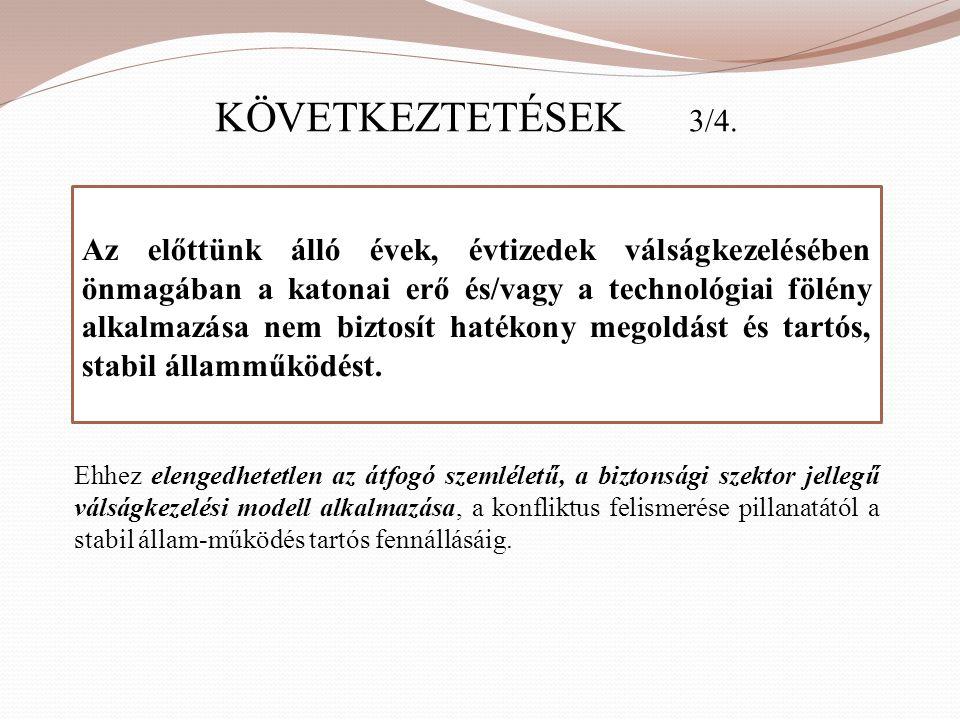 KÖVETKEZTETÉSEK 3/4.