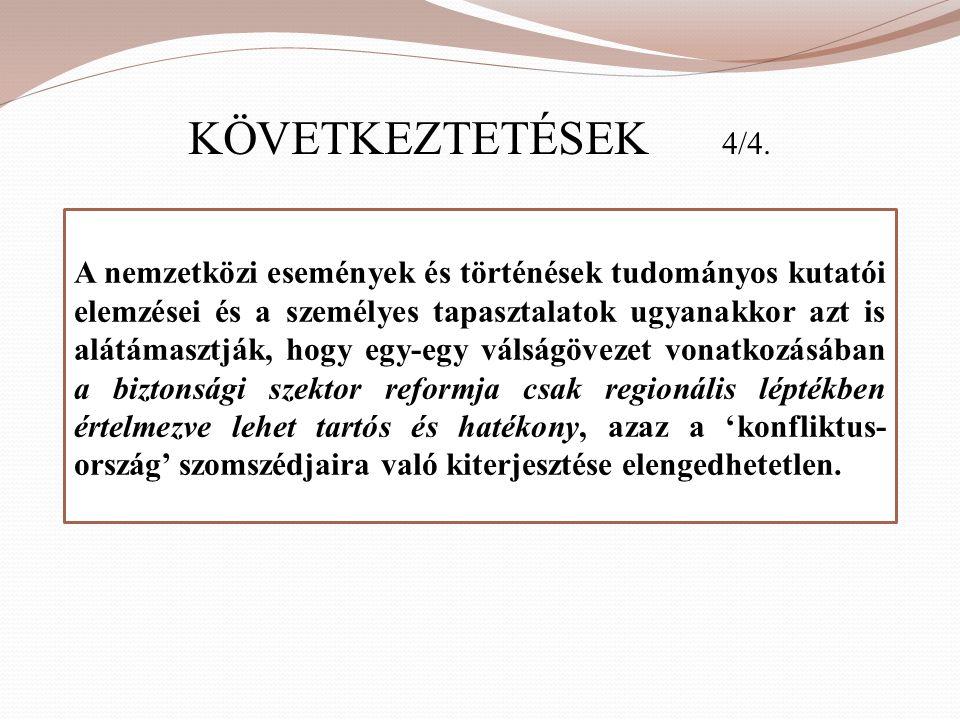 KÖVETKEZTETÉSEK 4/4.