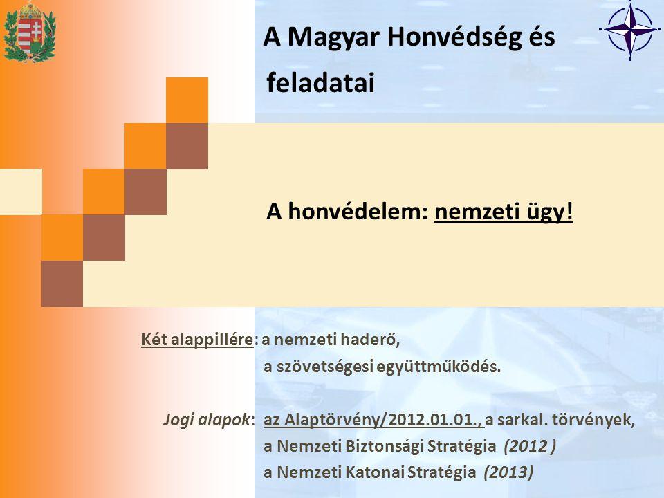 A Magyar Honvédség és feladatai A honvédelem: nemzeti ügy