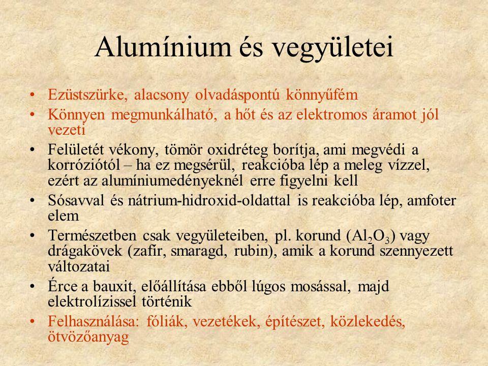 Alumínium és vegyületei