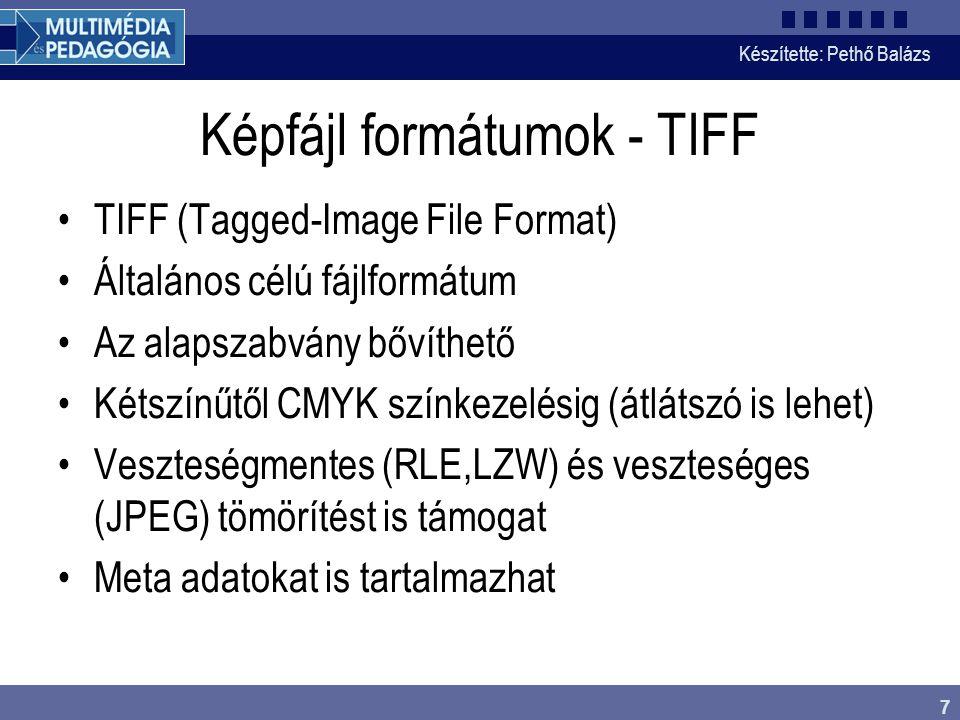 Képfájl formátumok - TIFF