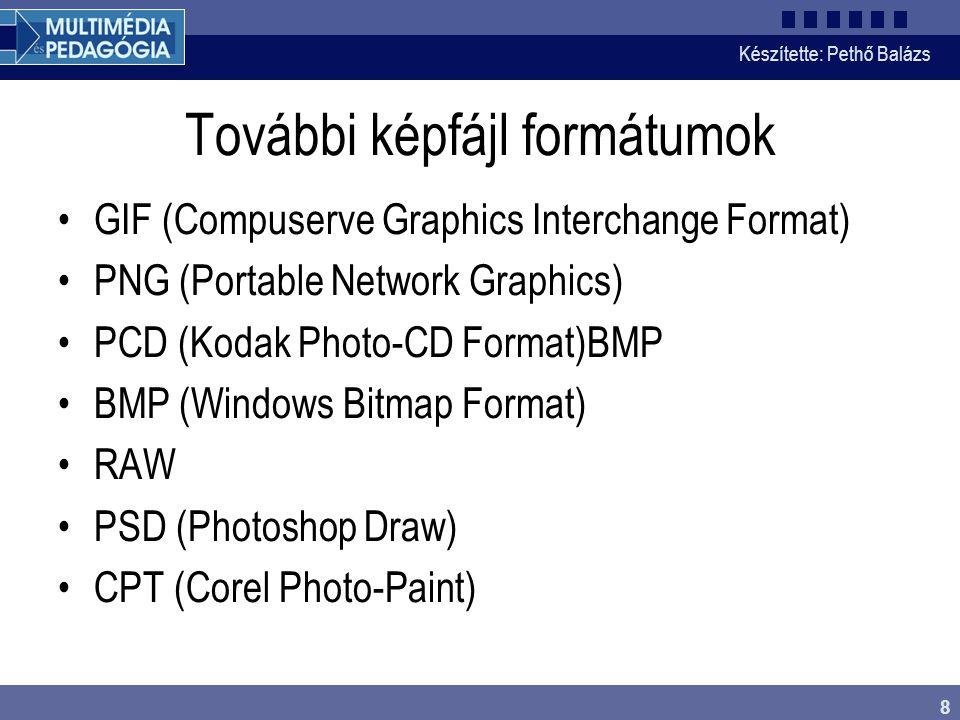 További képfájl formátumok