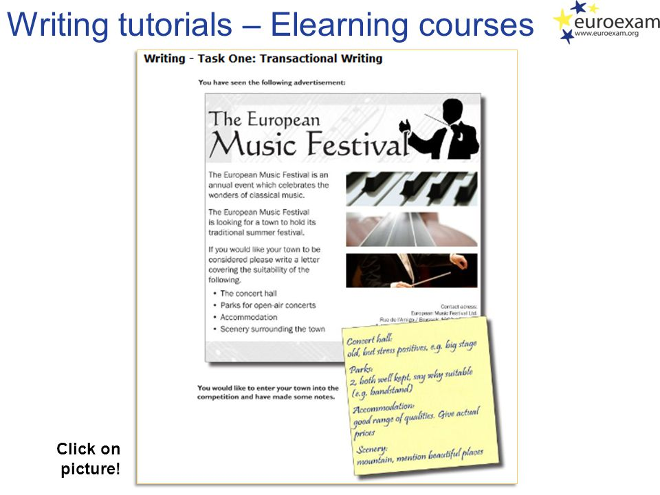Writing tutorials – Elearning courses