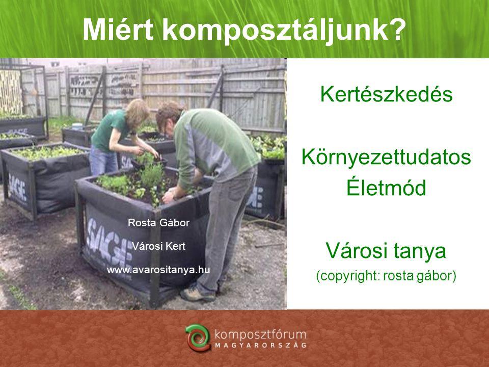 Miért komposztáljunk Kertészkedés Környezettudatos Életmód Városi tanya (copyright: rosta gábor)