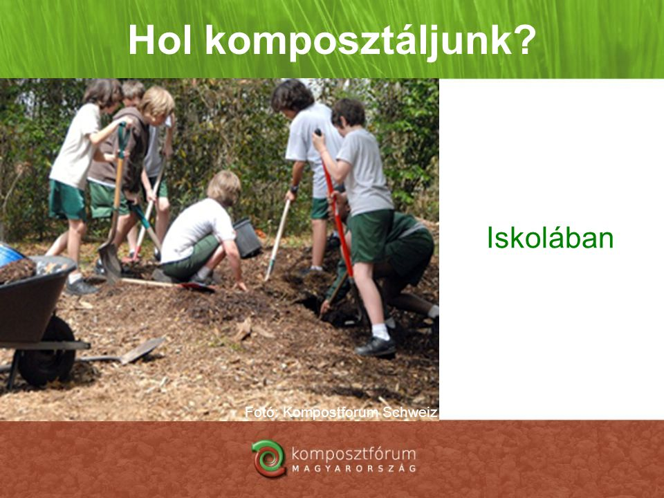 Fotó: Kompostforum Schweiz