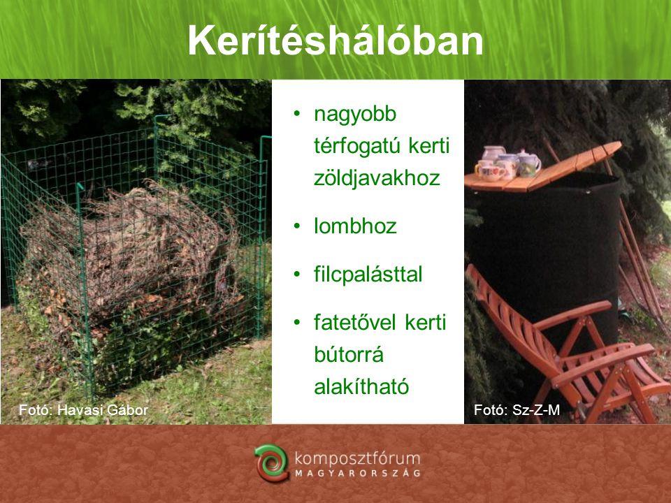 Kerítéshálóban nagyobb térfogatú kerti zöldjavakhoz lombhoz