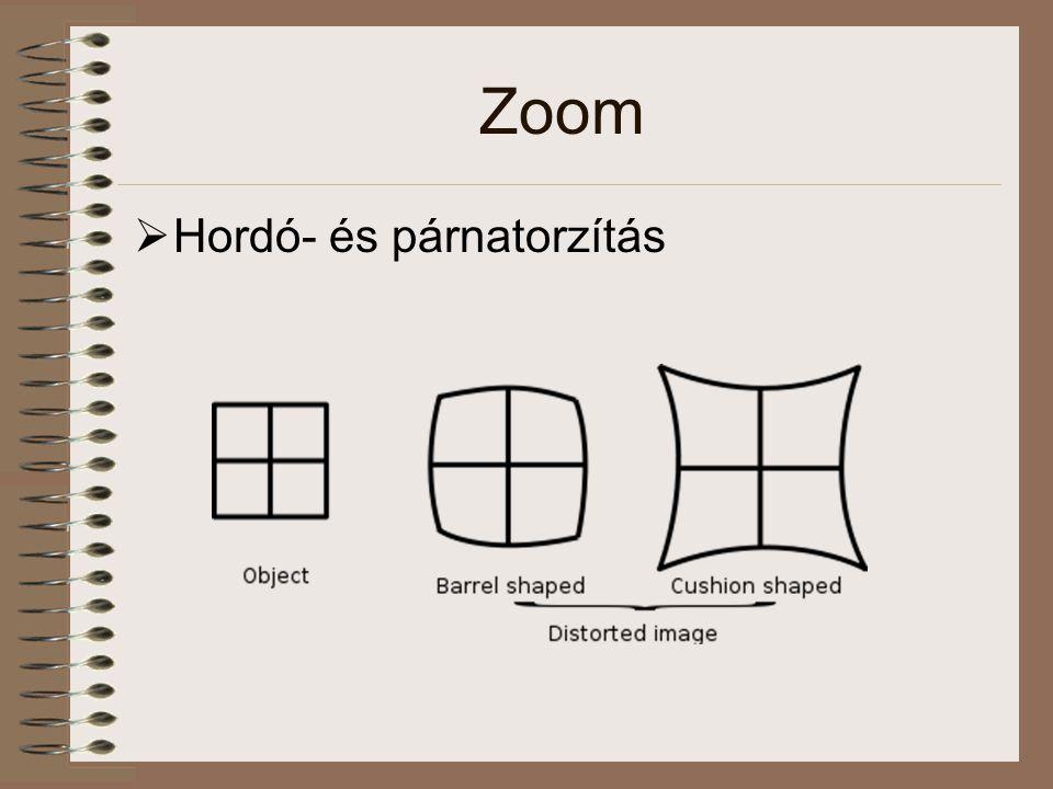 Zoom Hordó- és párnatorzítás