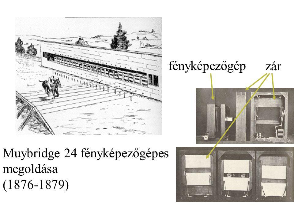 Muybridge 24 fényképezőgépes megoldása (1876-1879)