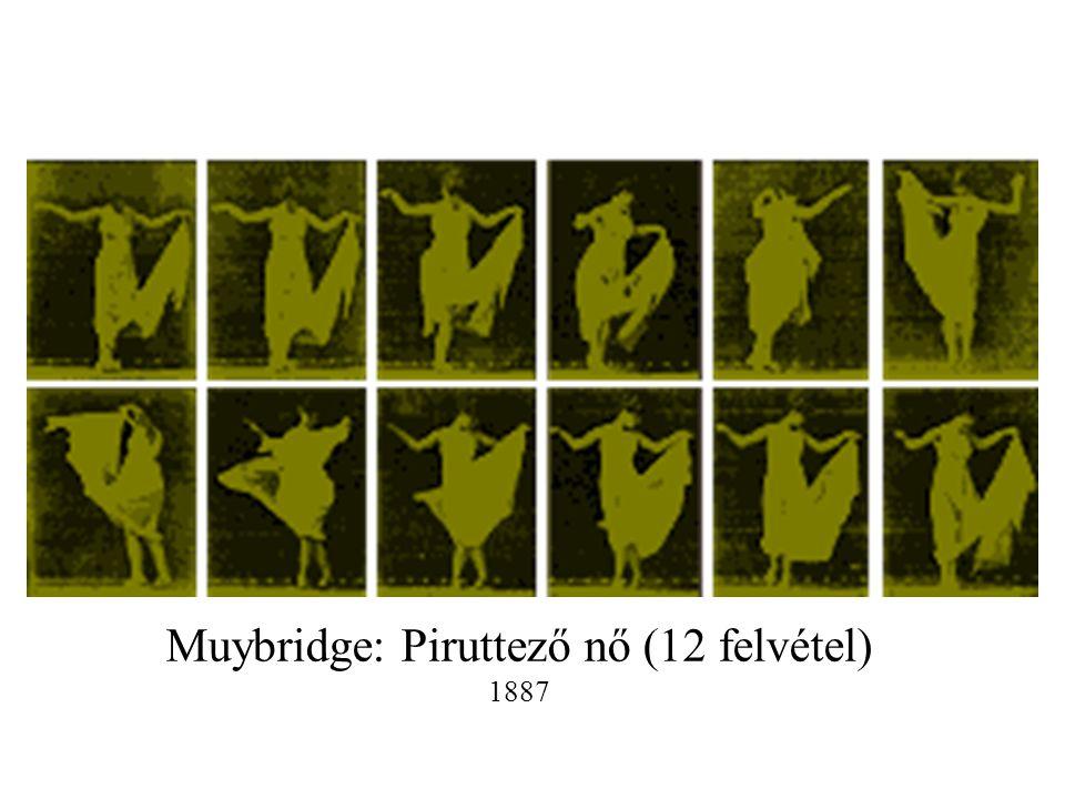 Muybridge: Piruttező nő (12 felvétel)