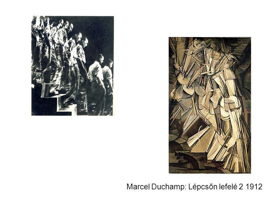 Marcel Duchamp: Lépcsőn lefelé 2 1912