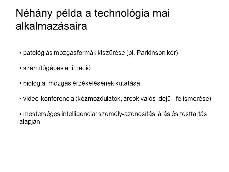 Néhány példa a technológia mai alkalmazásaira