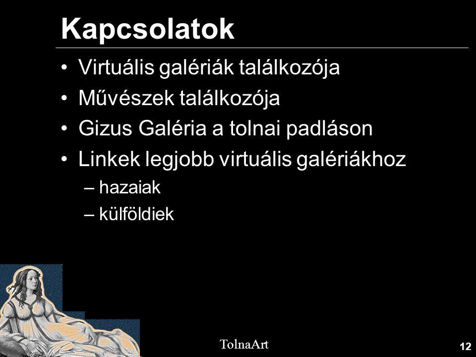 Kapcsolatok Virtuális galériák találkozója Művészek találkozója