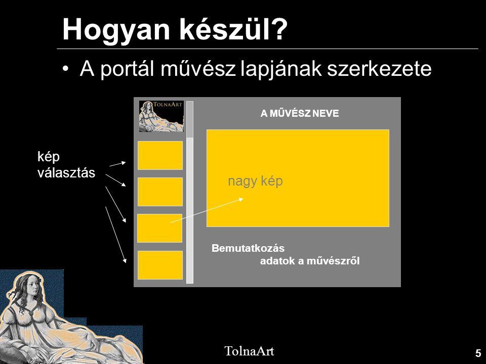 Hogyan készül A portál művész lapjának szerkezete kép választás