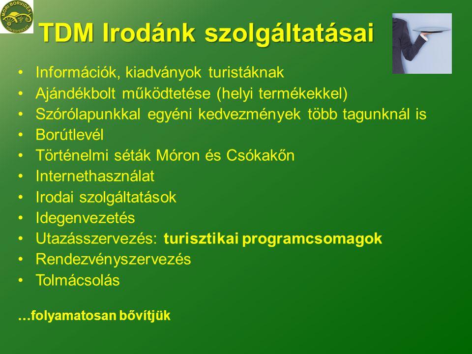 TDM Irodánk szolgáltatásai