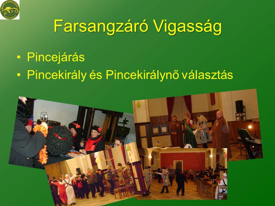 Farsangzáró Vigasság Pincejárás Pincekirály és Pincekirálynő választás