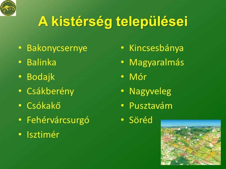 A kistérség települései