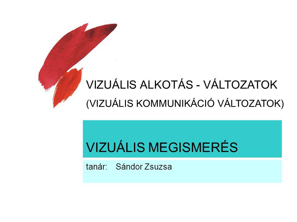 VIZUÁLIS MEGISMERÉS VIZUÁLIS ALKOTÁS - VÁLTOZATOK