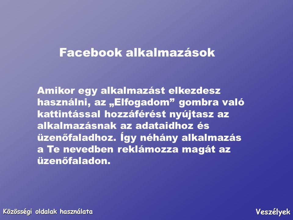 Facebook alkalmazások