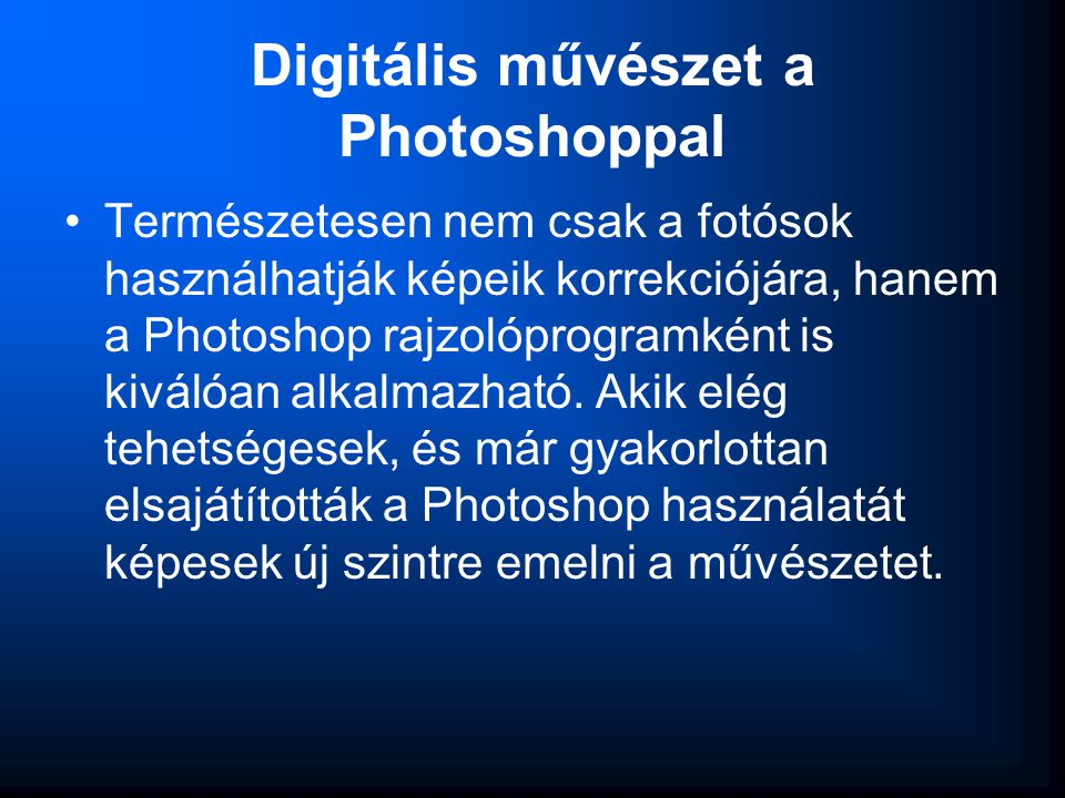 Digitális művészet a Photoshoppal
