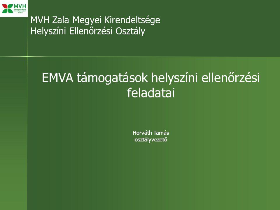 EMVA támogatások helyszíni ellenőrzési feladatai