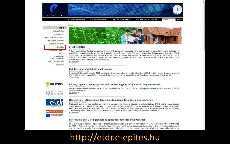 http://etdr.e-epites.hu