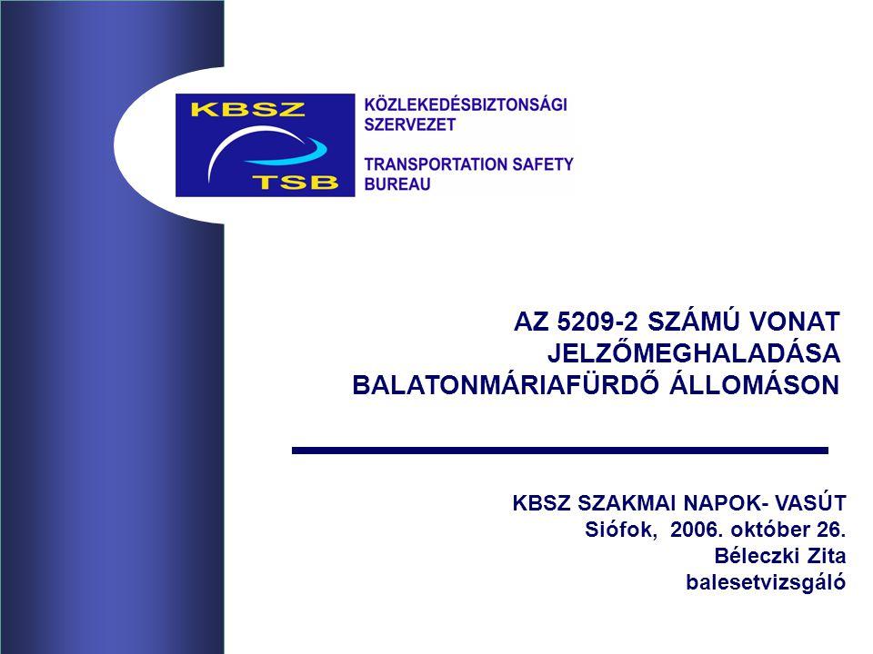 AZ 5209-2 SZÁMÚ VONAT JELZŐMEGHALADÁSA BALATONMÁRIAFÜRDŐ ÁLLOMÁSON