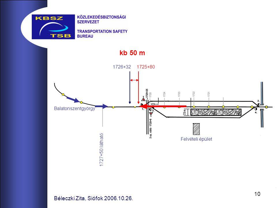 kb 50 m Béleczki Zita, Siófok 2006.10.26. 1726+32 1725+80