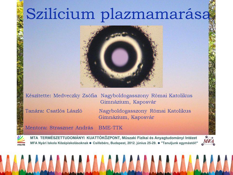 Szilícium plazmamarása