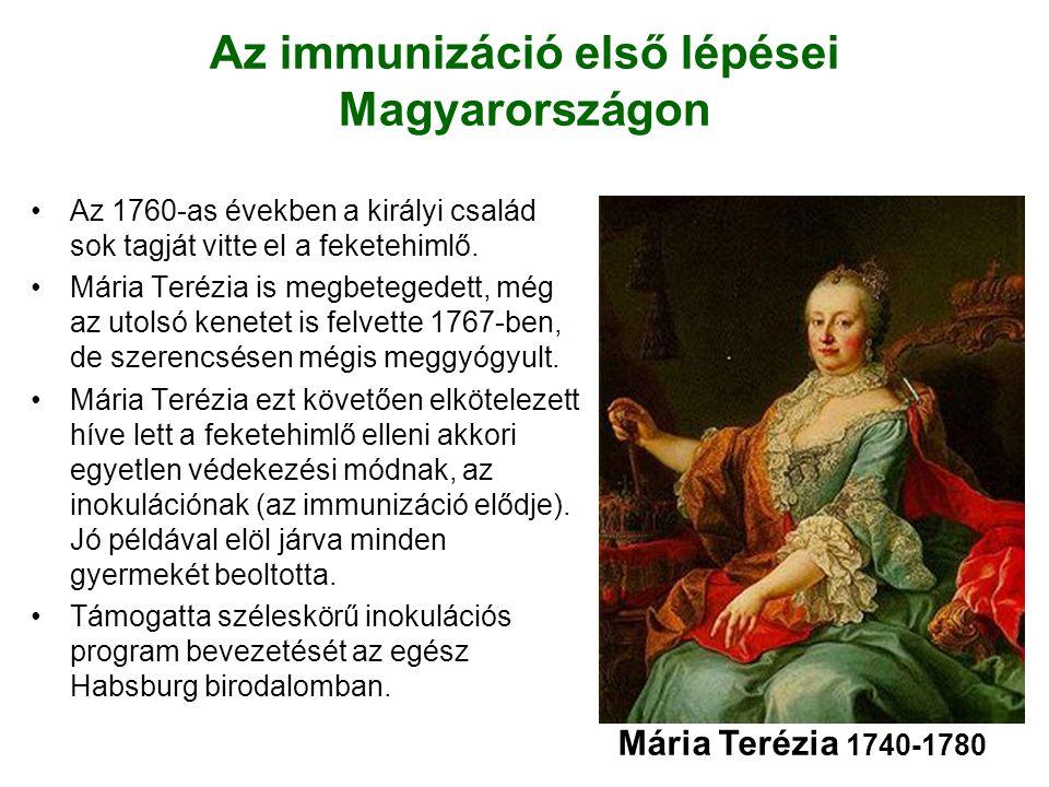 Az immunizáció első lépései Magyarországon